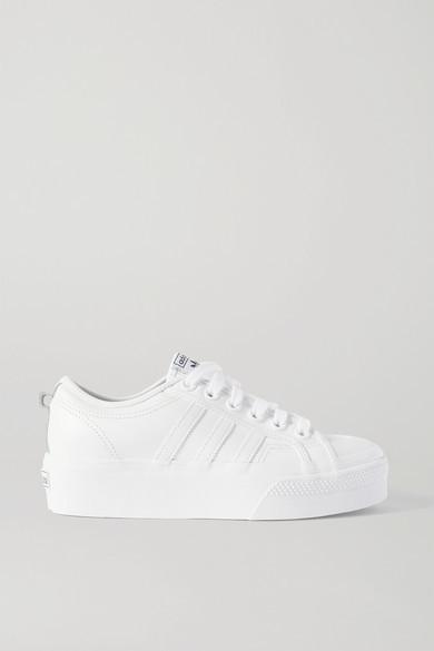 adidas Nizza Leather Platform Sneakers - White