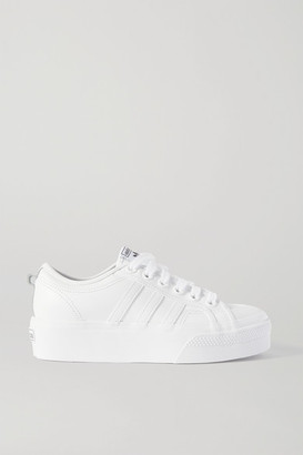adidas Nizza Leather Platform Sneakers - White