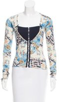 John Galliano Floral Cashmere Cardigan