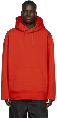Y-3 Red Classic Chest Logo Hoodie