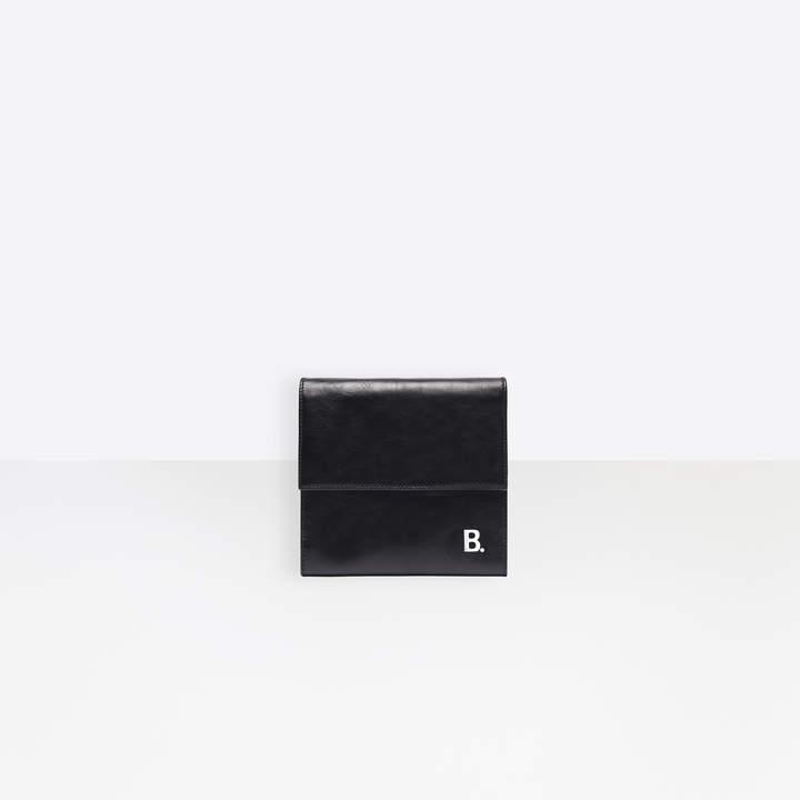 Balenciaga Soft Wallet On Strap in black nappa leather and semi-shiny palladium hardware
