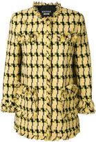 Moschino frayed detail tweed jacket