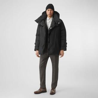 Burberry Detachable Hood Down-filled Oversized Wrap Coat