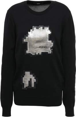 Versace Embellished Cotton-blend Sweater