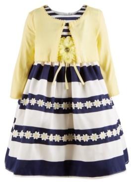 Blueberi Boulevard Toddler Girls 2-Pc. Cardigan & Sunflower Dress Set