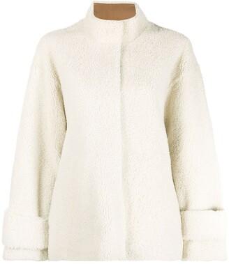 Liska Single-Breasted Shearling Coat