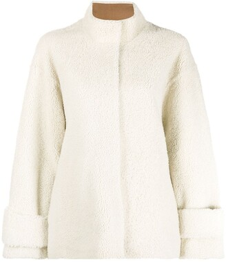 Liska Single-Breasted Shearling Coat