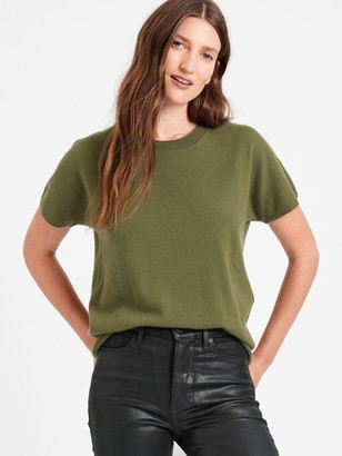Banana Republic Cashmere Short-Sleeve Sweater