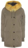 Kenzo Parka coat with fur-trimmed hood