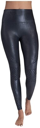 Spanx Faux Leather Quilted Leggings (Very Black) Women's Casual Pants