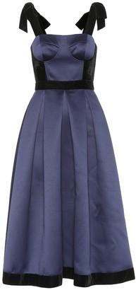 Huishan Zhang Victoria satin corset dress