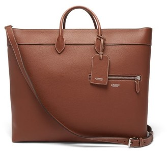 Burberry Grained Leather Tote Bag - Mens - Tan