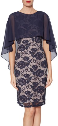 Gina Bacconi Minnie Floral Embroidery Dress, Navy