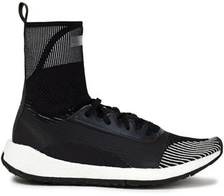 adidas by Stella McCartney Pulseboost Hd Monogram-trimmed Stretch-knit Sneakers