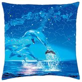 """iRocket - Dolphin's year - Throw Pillow Cover (18"""" x 18"""")"""