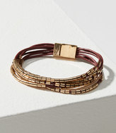 LOFT Multistrand Metallic Beaded Bracelet