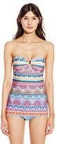 Jessica Simpson Women's Bali Breeze Dress One-Piece Swimsuit