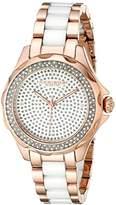 Akribos XXIV Women's AK534RG Swiss Quartz Diamond Ceramic Link Bracelet Watch