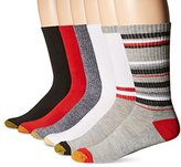 Gold Toe Men's Fashion Sport Crew Sock 6-Pack
