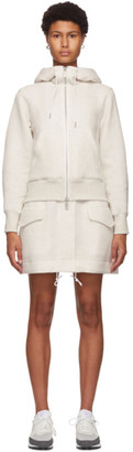 Sacai Beige Sponge Short Hooded Dress