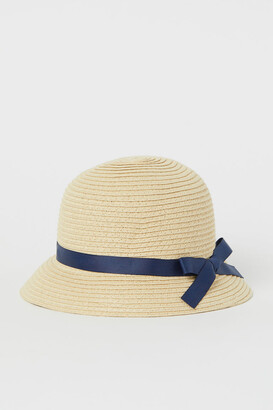 H&M Bow-detail straw hat