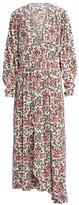 Isabel Marant Blaine Floral Slit Maxi Dress