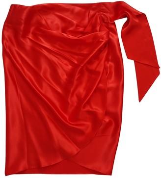 Salvatore Ferragamo Red Silk Skirts