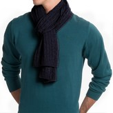 Portolano Cashmere Cable Scarf (For Men)