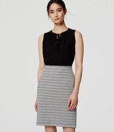 LOFT Textured Stripe Pull On Pencil Skirt