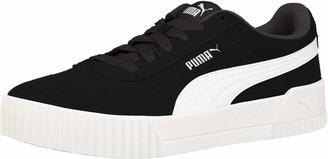 Puma Women's Carina Sneaker Black Black Silver Numeric_7_Point_5