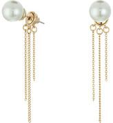 Rebecca Minkoff Pearl Fringe Back Earrings