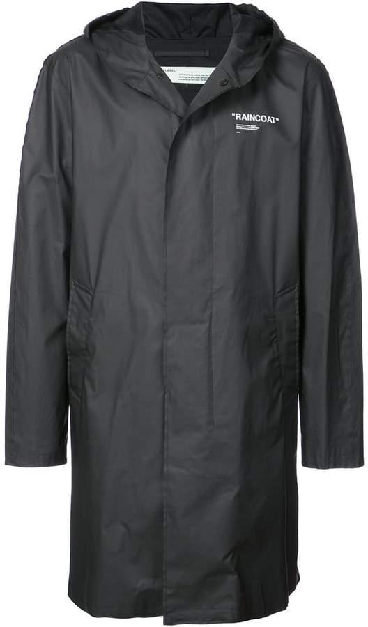 Off-White printed raincoat