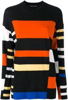 Proenza Schouler stripe panel jumper - women - Silk/Cotton/Polyester - XS