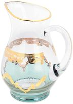 Classic Touch Glass Pitcher with 24K Gold Artwork