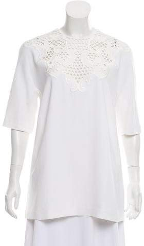 Stella McCartney Crochet-Accented Short Sleeve Tunic w/ Tags