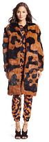 Diane von Furstenberg Fur Natalia Coat Long