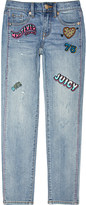 Juicy Couture Embroidered-detail skinny mid-rise jeans 4-14 years