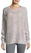 Tommy Bahama Crochet Roundneck Sweater