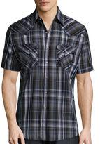 Ely Cattleman Short-Sleeve Western Plaid Snap Shirt