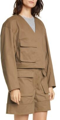 Tibi Myriam Crop Stretch Twill Jacket