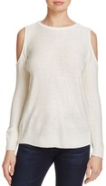 Aqua Lace Up Cold Shoulder Sweater - 100% Exclusive