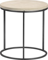 CB2 Grind Sandstone Side Table