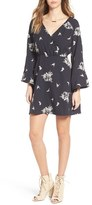Mimichica Women's Mimi Chica Embroidered Bell Sleeve Fit & Flare Dress