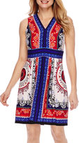 Studio 1 Sleeveless Printed Fit and Flare Dress - Petite