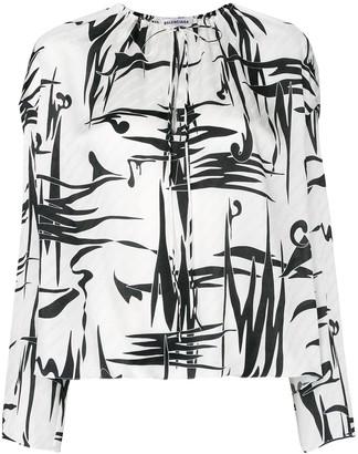 Balenciaga graphic print blouse
