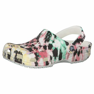 Crocs Classic Tie Dye Clog | Comfortable Slip On Casual Water Shoe
