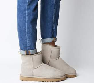 UGG Classic Mini Grapghic Logo Boots Oyster Neon Yellow