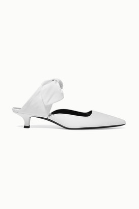 The Row Coco Leather Mules - Ivory