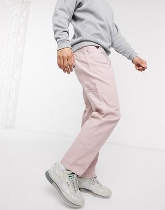 Dickies Fairdale carpenter pant in pink