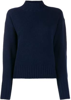 Allude ribbed turtle neck jumper
